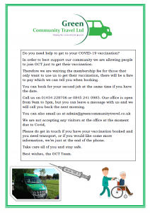 Green Community Travel help with transport to appointments