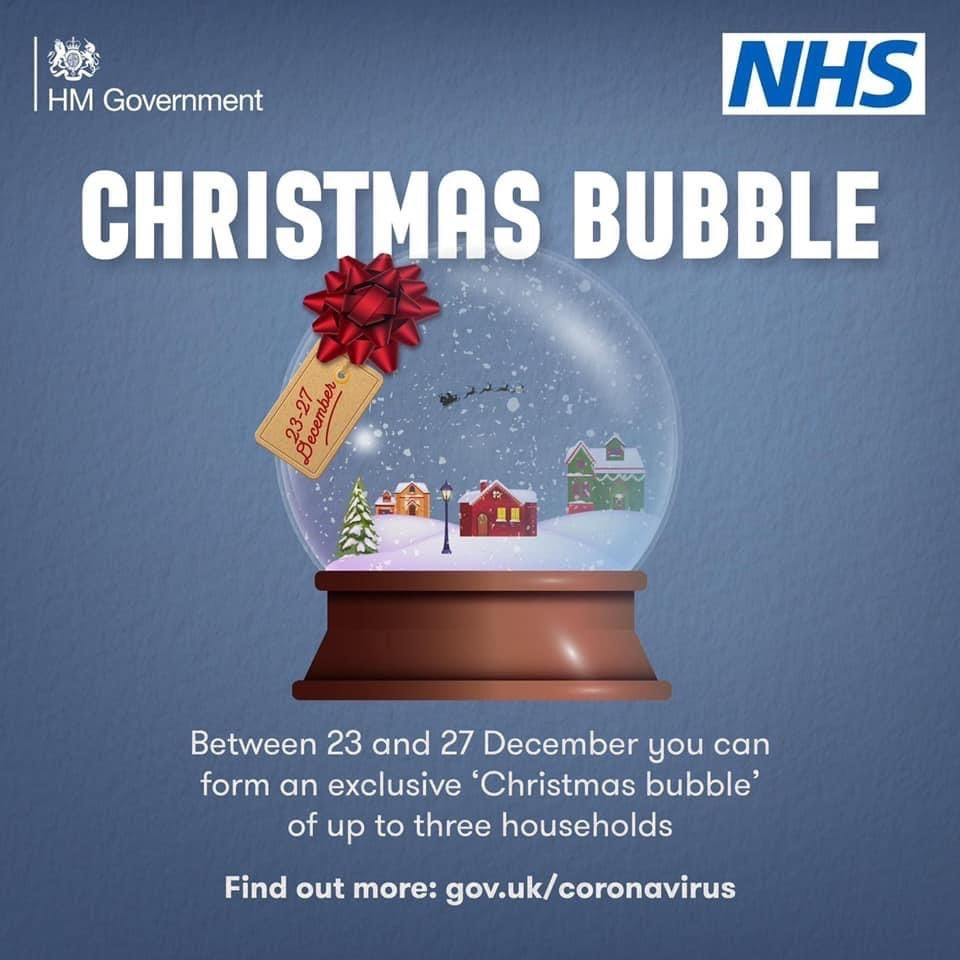 Christmas Bubble information